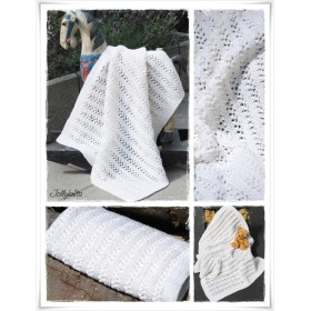 Knitting Pattern Baby blanket BLANCA