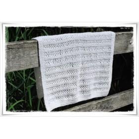 Knitting Pattern Baby blanket BLANCA