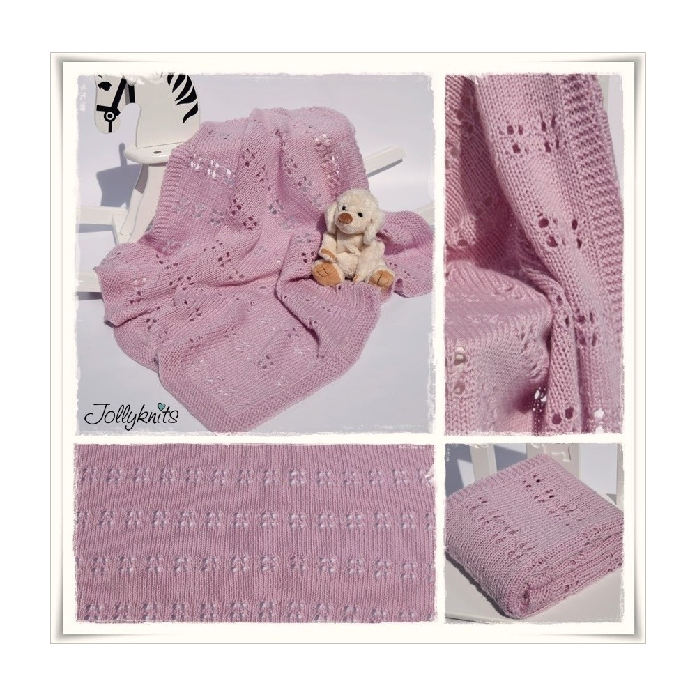 Knitting Pattern Baby blanket CAMELIA