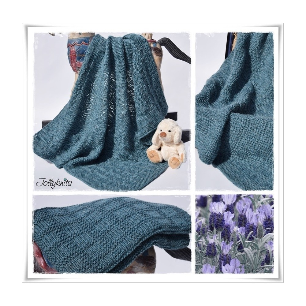 Knitting Pattern Baby blanket SANJA