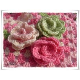 Crochet Pattern Flowers ROSIES