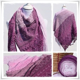 Knitting Pattern Lace Shawl CHERRY BLOSSOM