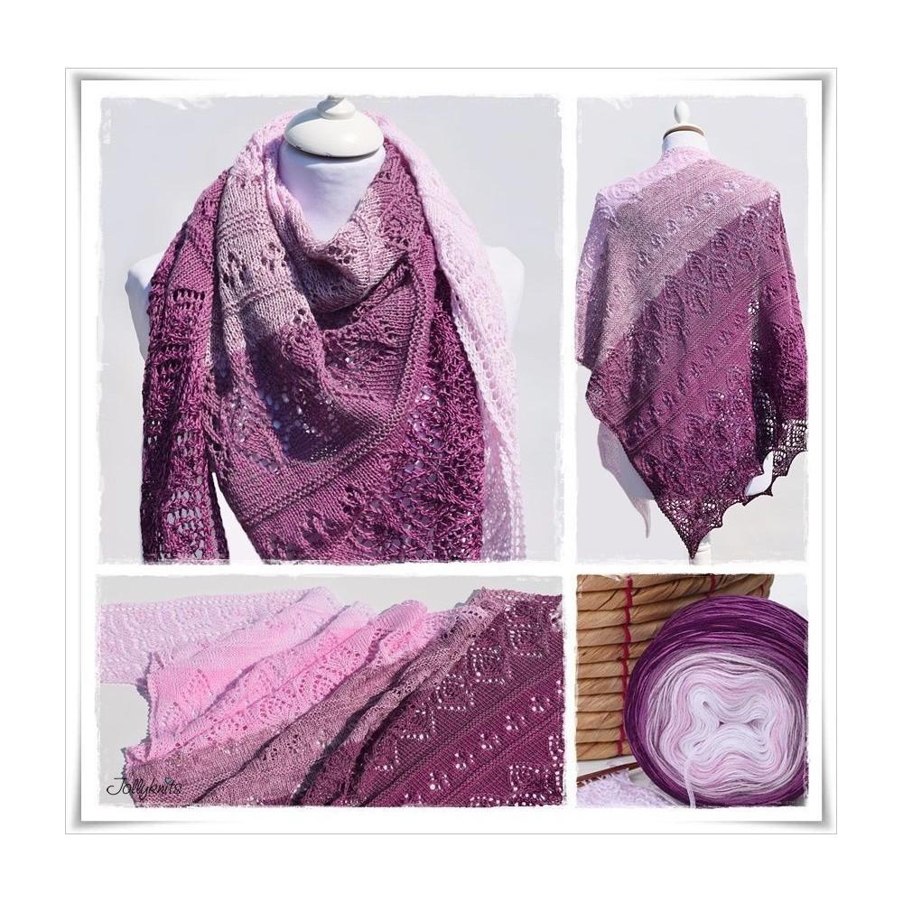 Knitting Pattern Lace Shawl CHERRY BLOSSOM