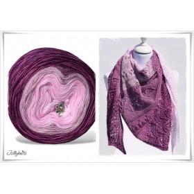 Produktkombination Strickanleitung + Farbverlaufswolle Merino CHERRY BLOSSOM