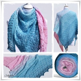 Knitting Pattern Lace Shawl MERMAID