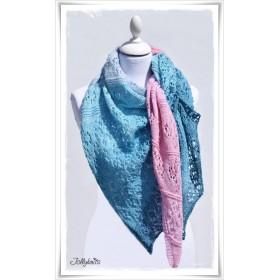 Knitting Pattern Lace Shawl MERMAID