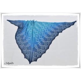 Knitting Pattern Lace Shawl BLUE LAGOON
