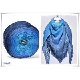 Product bundle Knitting pattern + Gradient Yarn Merino BLUE LAGOON