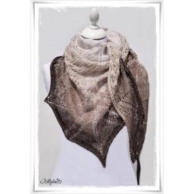 Knitting Pattern Lace Shawl LATTE MACCHIATO