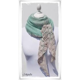 Knitting Pattern Lace Shawl PRIMAVERA