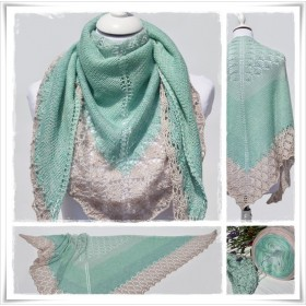 Knitting Pattern Lace Shawl PRIMAVERA