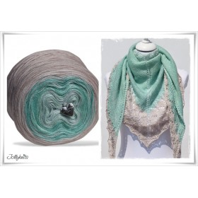 Product bundle Knitting pattern + Gradient Yarn Merino PRIMAVERA