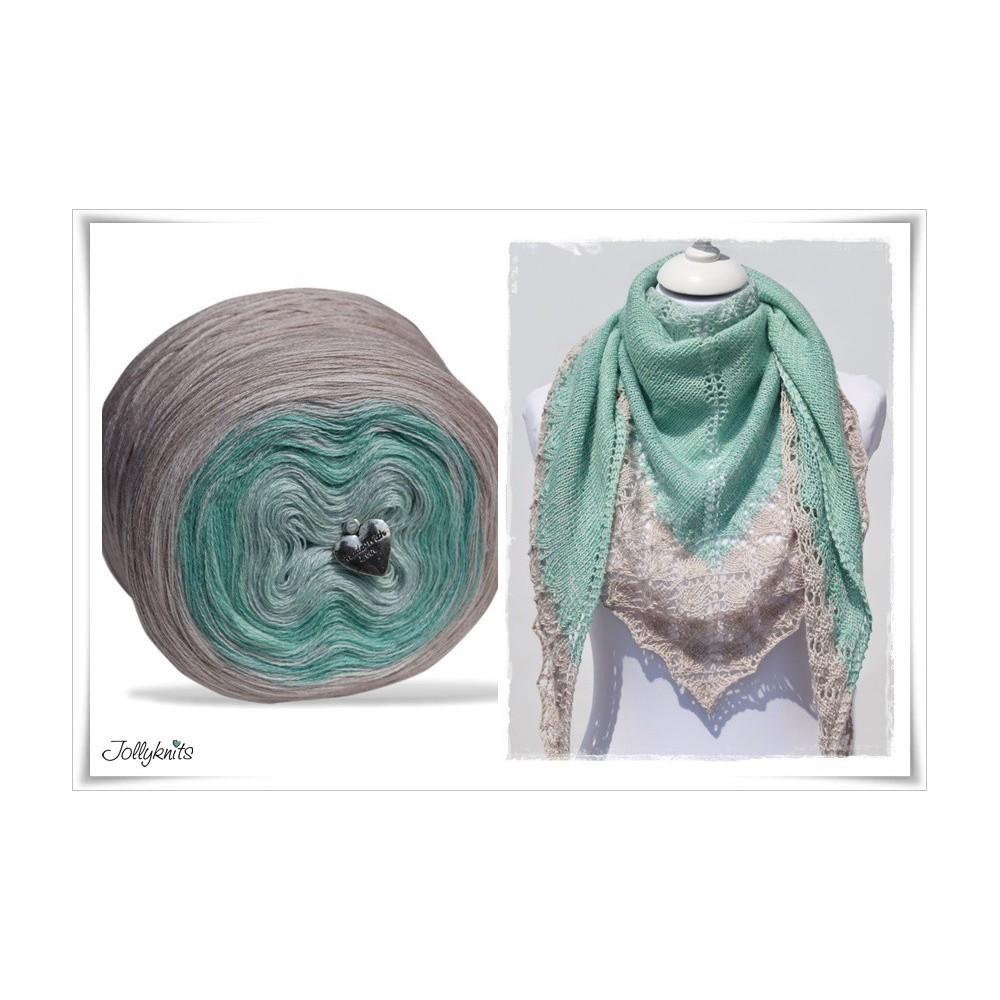 Product bundle Knitting pattern + Gradient Yarn Merino PRIMAVERA