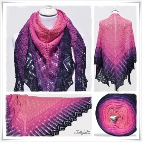 Knitting Pattern Lace Shawl CAPE DAISY