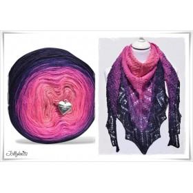 Produktkombination Strickanleitung + Farbverlaufswolle Merino CAPE DAISY