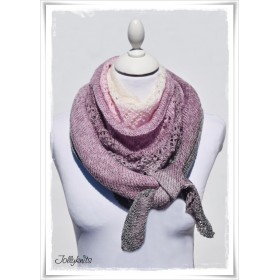 Knitting Pattern Lace Shawl SUGAR PLUM