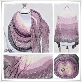 Knitting Pattern Lace Shawl SUGAR PLUM