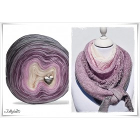 Product bundle Knitting pattern + Gradient Yarn Merino  SUGAR PLUM