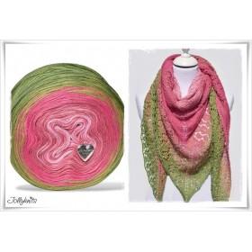 Product bundle Knitting pattern + Gradient Yarn Merino  TULIP