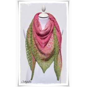 Knitting Pattern Lace Shawl TULIP