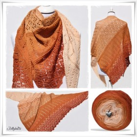 Knitting Pattern Lace Shawl INDIAN SUMMER