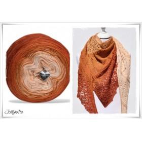 Produktkombination Strickanleitung + Farbverlaufswolle Merino INDIAN SUMMER