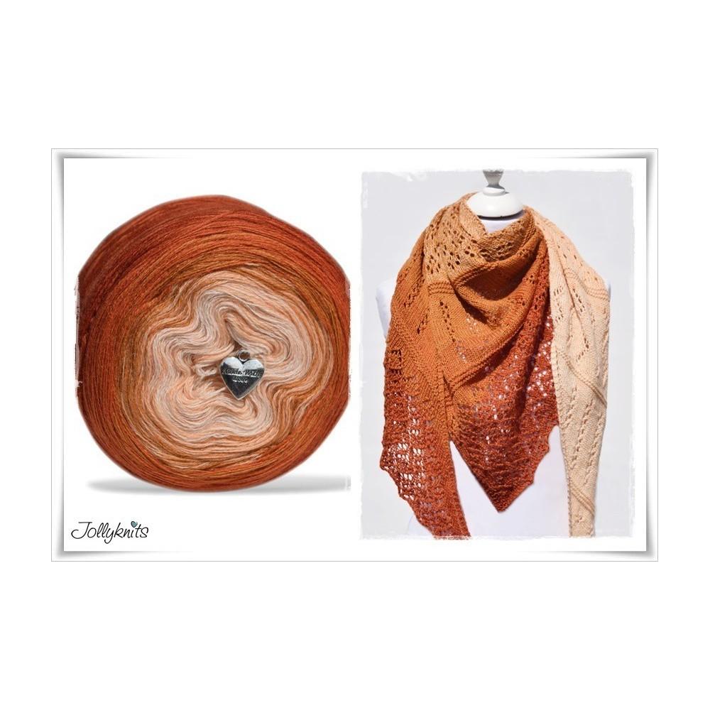 Product bundle Knitting pattern + Gradient Yarn Merino   INDIAN SUMMER