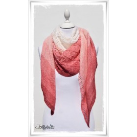 Knitting Pattern Lace Shawl STRAWBERRY & CREAM