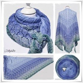Knitting Pattern Lace Shawl MISS GRAPE