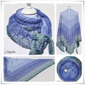 Knitting Pattern Lace Shawl MISS GRAPE