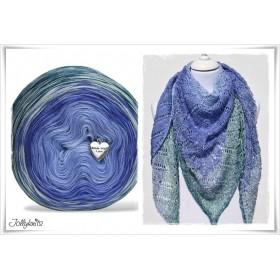 Produktkombination Strickanleitung + Farbverlaufswolle Merino MISS GRAPE