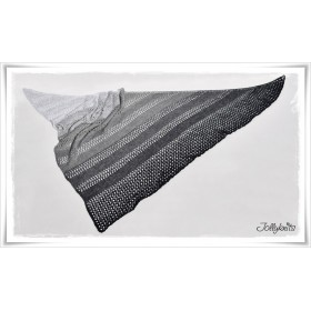 Strickanleitung Lacetuch BLACK OR WHITE