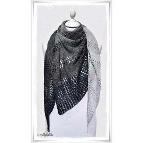 Knitting Pattern Lace Shawl BLACK OR WHITE