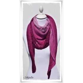Knitting Pattern Lace Shawl GARDEN OF LOVE