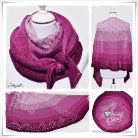 Knitting Pattern Lace Shawl GARDEN OF LOVE