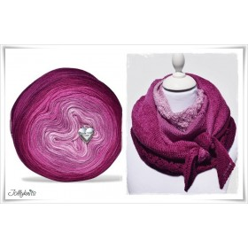 Product bundle Knitting pattern + Gradient Yarn Merino GARDEN OF LOVE