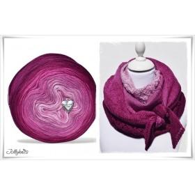 Produktkombination Strickanleitung + Farbverlaufswolle Merino GARDEN OF LOVE