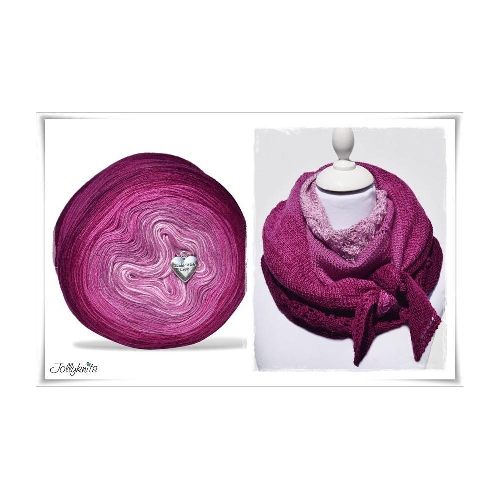 Product bundle Knitting pattern + Gradient Yarn Merino GARDEN OF LOVE