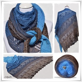 Knitting Pattern Lace Shawl CANNETO