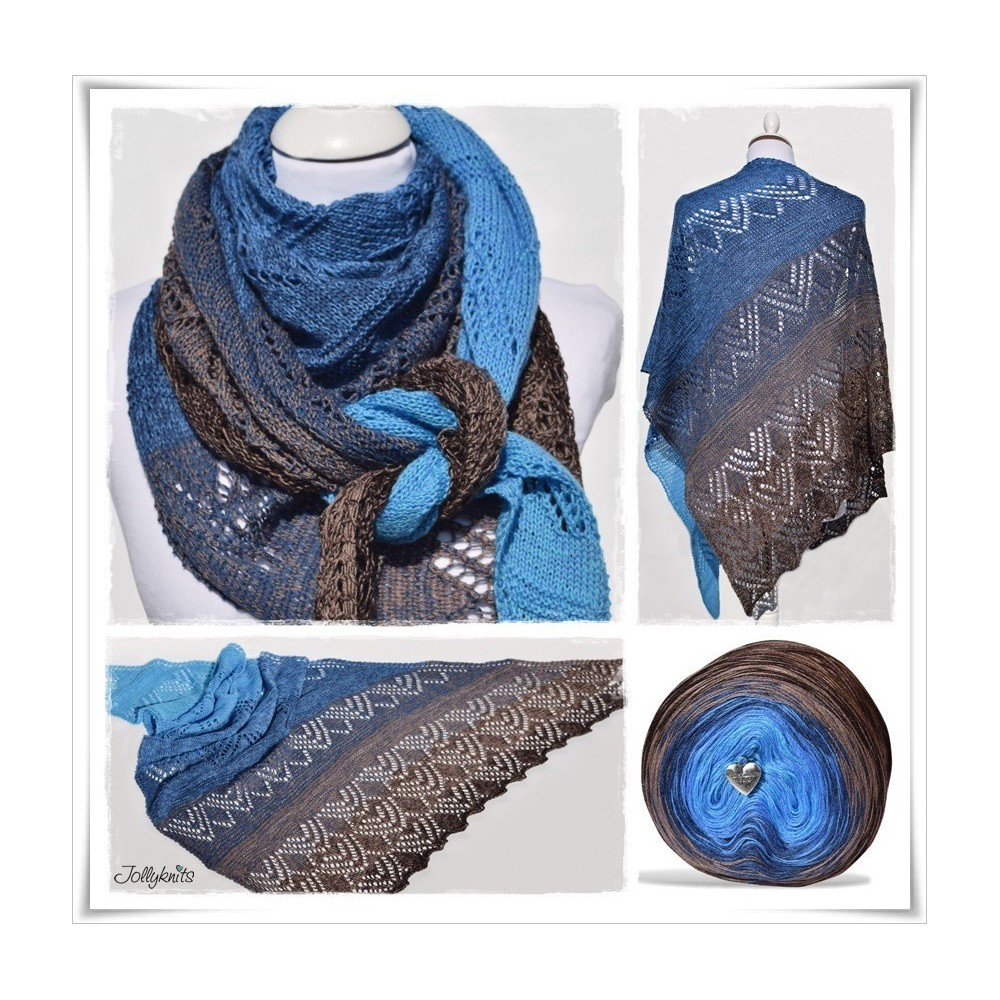 Knitting Pattern Lace Shawl CANNETO