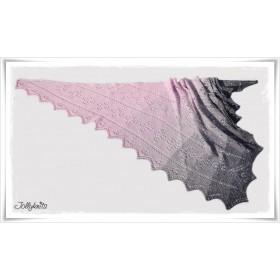 Knitting Pattern Lace Shawl PINK SYMPHONY