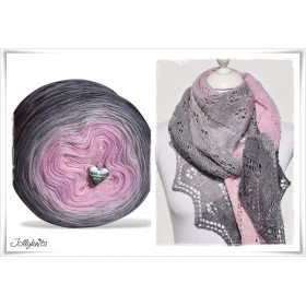 Product bundle Knitting pattern + Gradient Yarn Merino PINK SYMPHONY