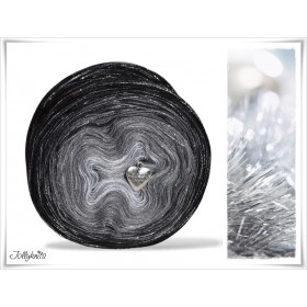 Gradient Yarn Merino BLACK CHRISTMAS GLITTER