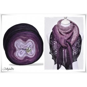 Product bundle Knitting pattern + Gradient Yarn Merino BLACK LAVENDER