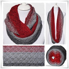 Knitting Pattern Cowl RED CHRISTMAS