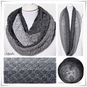 Knitting Pattern Cowl BLACK CHRISTMAS GLITTER
