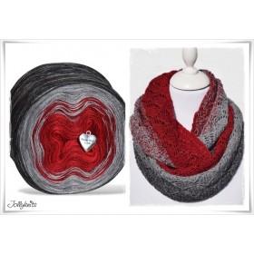 Product bundle Knitting pattern + Gradient Yarn Merino RED CHRISTMAS
