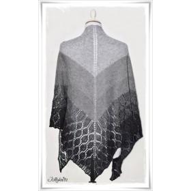 Knitting Pattern Lace Shawl BLACK CHRISTMAS