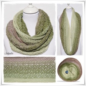 Knitting Pattern Cowl PISTACHE