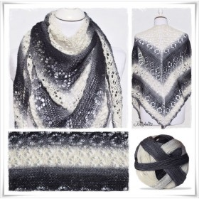 Knitting Pattern Lace Shawl SHADOW